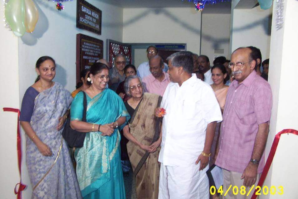 Inauguration of Dr Sarada Menon resicential center 2003